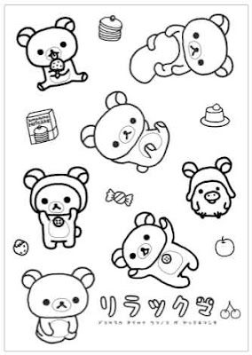 Le rilakkuma birthday eloely for Rilakkuma coloring pages